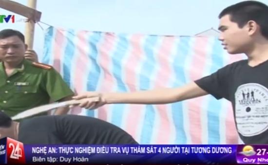 Thực nghiệm điều tra vụ thảm sát 4 người ở Nghệ An