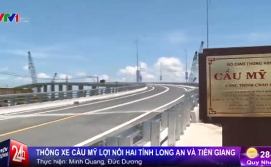 Thông xe Cầu Mỹ Lợi, rút gắn hơn 1 giờ đi từ TP.HCM đến Tiền Giang