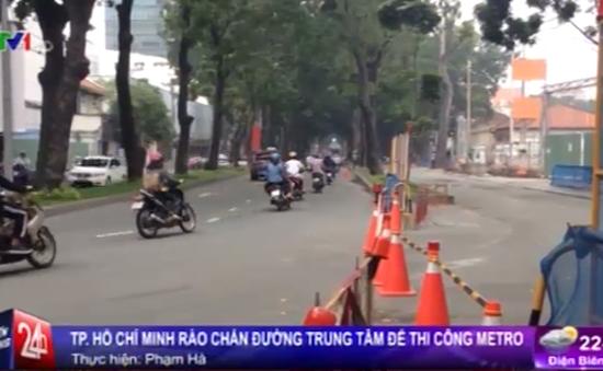 TP.HCM bắt đầu rào chắn đường trung tâm để thi công Metro