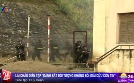 Lai Châu: Diễn tập chống khủng bố, giải cứu con tin