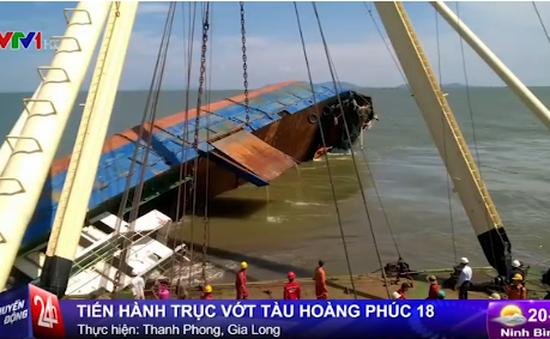 Bắt đầu tiến hành trục vớt tàu chìm tại TP.HCM