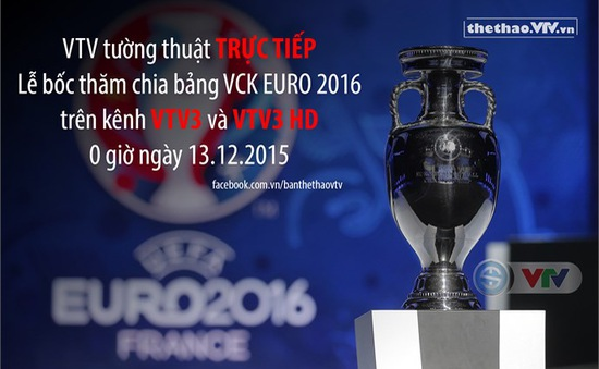 VTV tường thuật trực tiếp Lễ bốc thăm VCK EURO 2016