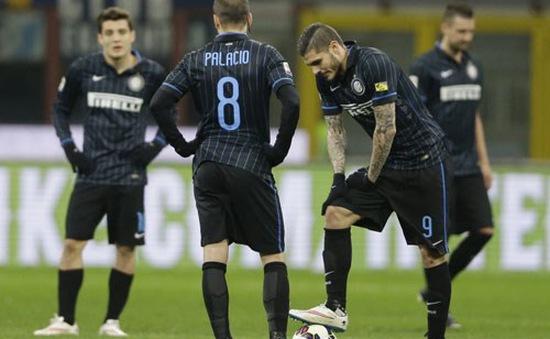 Vòng 27 Serie A: Inter chia điểm đầy thất vọng trước Cesena