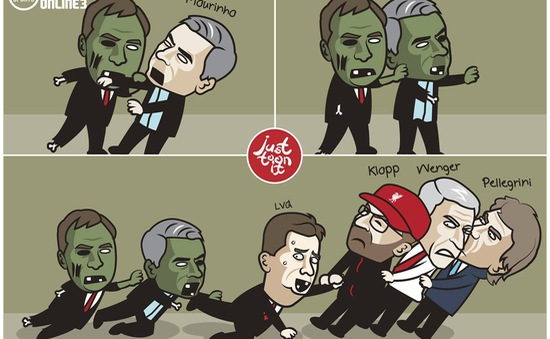"""Biếm họa: Van Gaal lo sợ bị lây bệnh """"mất việc"""" của Mourinho, Rodgers"""