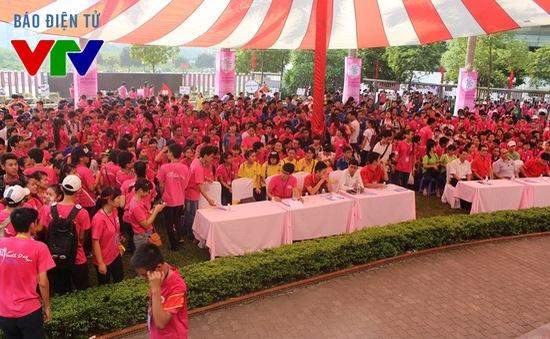 Sắc hồng phủ kín Viện Huyết học trong ngày hội Youth Day 2015