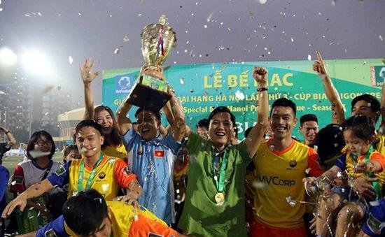 FC MV Corp vô địch giải bóng đá ngoại hạng Hà Nội