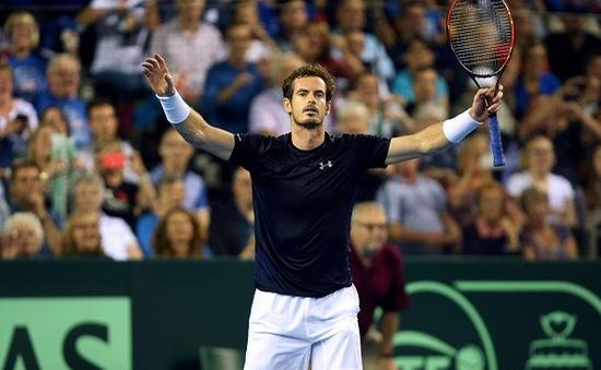 Bán kết Davis Cup: Murray đưa đội tuyển Vương quốc Anh đi vào lịch sử