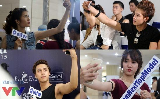 "Các thí sinh Vietnam's Next Top Model thi nhau ""selfie"""
