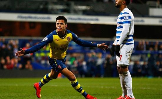QPR 1-2 Arsenal: Alexis Sanchez giải cơn khát bàn thắng