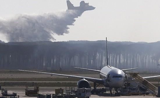 Italy: Sân bay ở Rome hoạt động trở lại sau cháy rừng