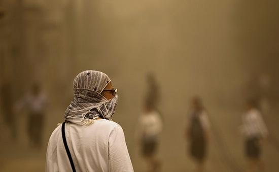 Bão cát kinh hoàng bao phủ Lebanon và Syria