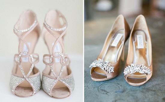 6 kiểu giày cưới lộng lẫy hợp style từng cô dâu