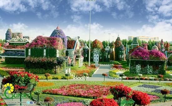 Kinh ngạc với khu vườn hoa lớn nhất thế giới giữa Dubai