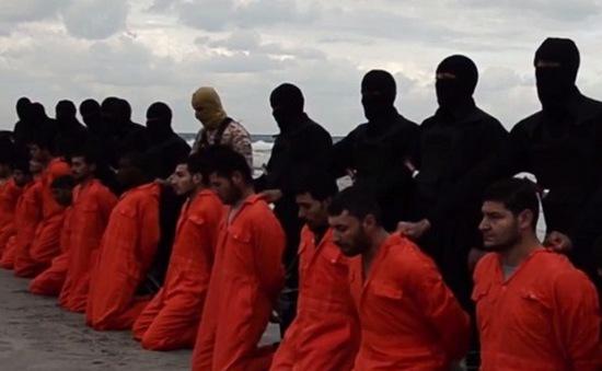 IS tung video hành quyết 21 con tin Ai Cập theo đạo Cơ đốc