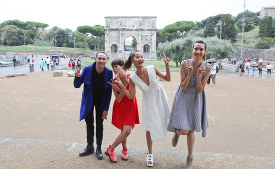 Top 4 Vietnam's Next Top Model rạng rỡ tại Italy