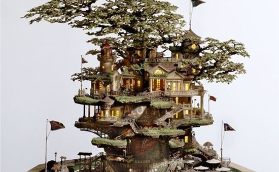 Đẹp ngỡ ngàng những lâu đài bonsai tinh xảo