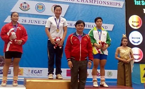Lê Thị Thắm giành vàng tại Giải cử tạ vô địch ĐNA