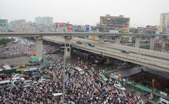 Ùn tắc kinh hoàng ở đường vành đai 3 Hà Nội