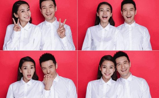 Loạt ảnh đăng ký kết hôn nhí nhố của Huỳnh Hiểu Minh - Angela Baby