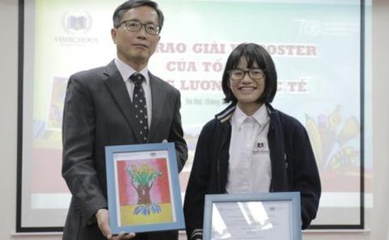 """Học sinh Việt Nam đoạt giải Nhì cuộc thi """"Sáng tác poster"""""""