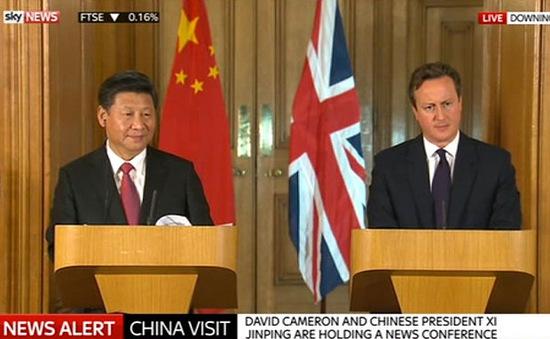 Anh và Trung Quốc cam kết tăng cường hợp tác