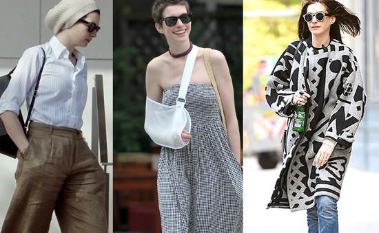 """Anne Hathaway ngày càng tự tin với phong cách """"thùng thình"""""""