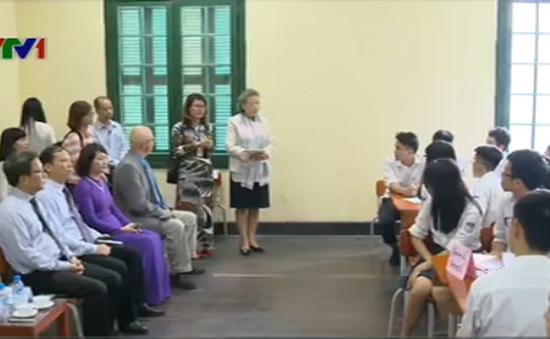 Phu nhân Tổng Thư ký LHQ thăm trường Chu Văn An
