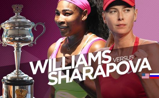 10 điều cần biết trước trận chung kết giữa Serena và Sharapova