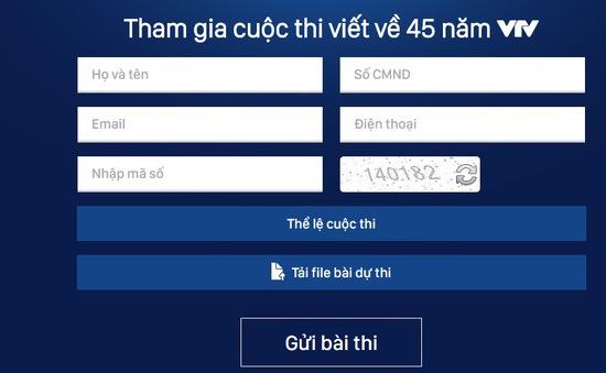 """Cơ hội nhận máy tính bảng khi gửi bài dự thi """"45 năm VTV"""""""