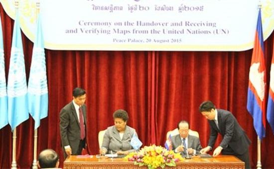 LHQ bàn giao cho Campuchia bản đồ biên giới với Việt Nam