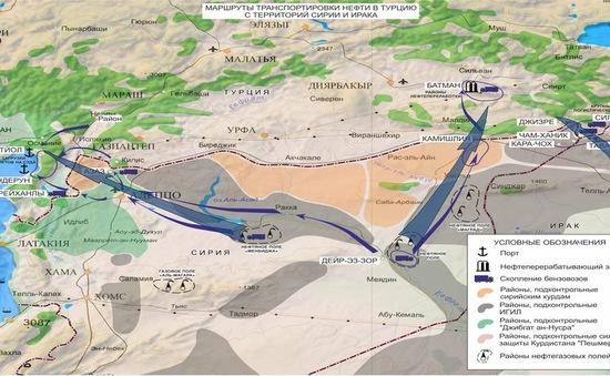 Nga có bằng chứng việc IS cung cấp dầu cho Thổ Nhĩ Kỳ