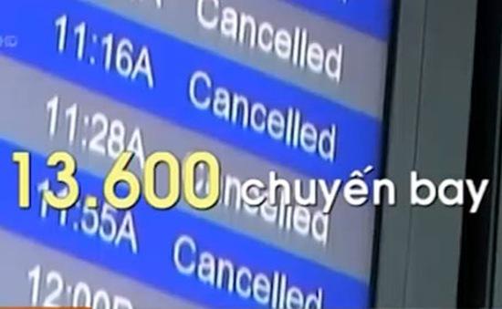 Mỹ: Ngành hàng không tiếp tục bị ảnh hưởng bởi thời tiết xấu