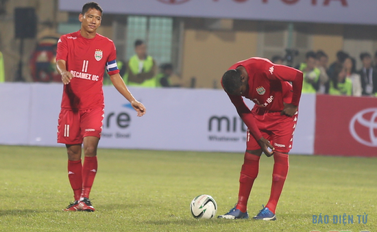 Hàng công B.Bình Dương bất lực trước đội bóng top 4 Campuchia