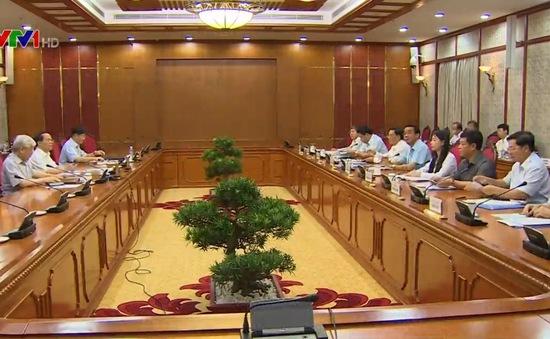Bộ Chính trị cho ý kiến về phương án nhân sự 6 tỉnh, thành
