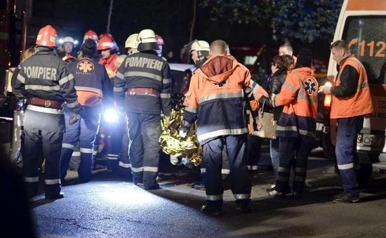 Cháy hộp đêm ở Romania: Số người thiệt mạng có thể tăng cao
