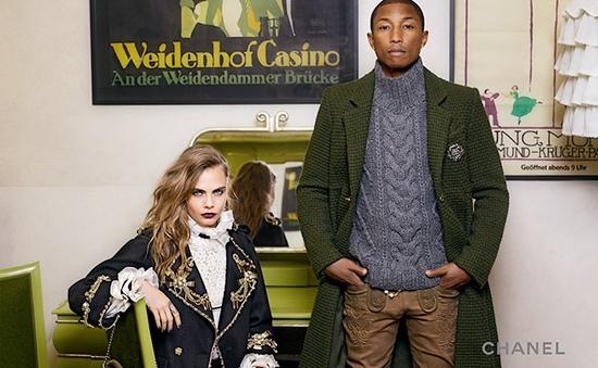 Cara Delevingne kết đôi với Pharrell Williams