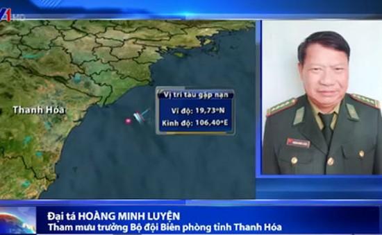 Tàu cá tại Thanh Hóa gặp nạn: 4 người vẫn đang mất tích