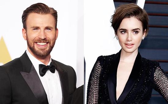 """Sao phim """"Captain America: Chiến binh mùa đông"""" hẹn hò với Lily Collins"""