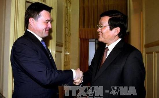 Chủ tịch nước tiếp Thống đốc tỉnh Moscow, Liên bang Nga