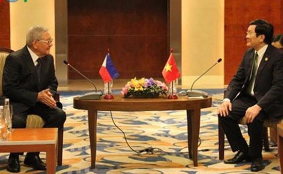 Chủ tịch nước Trương Tấn Sang tiếp Chủ tịch Hạ viện Philippines