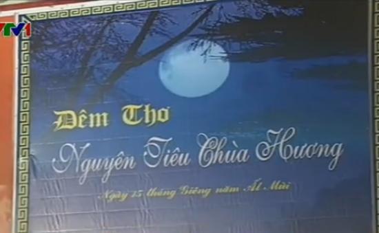 Lắng lòng đêm thơ Nguyên tiêu tại chùa Hương