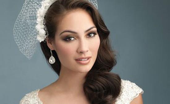 Những kiểu tóc cô dâu phù hợp tiết thu