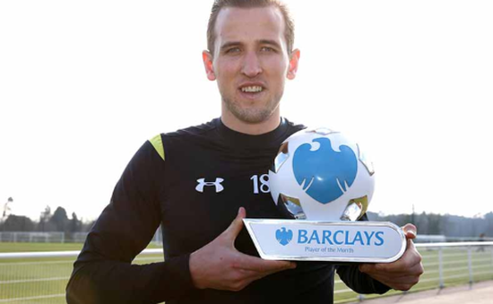 Harry Kane đoạt danh hiệu Cầu thủ xuất sắc nhất tháng 1
