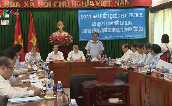Chủ tịch nước và các đại biểu Quốc hội TP.HCM làm việc với UBND TP