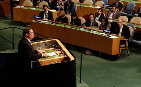 Mỹ bỏ phiếu chống lại Nghị quyết dỡ bỏ lệnh cấm vận kinh tế Cuba