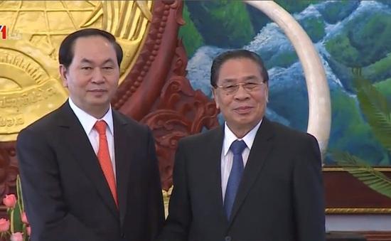 Đại tướng Trần Đại Quang hội kiến Tổng Bí thư và Thủ tướng Lào