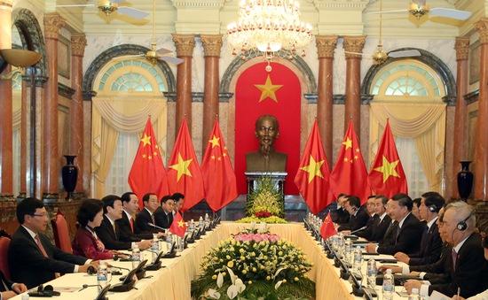 Chủ tịch nước hội đàm với Tổng Bí thư, Chủ tịch Trung Quốc Tập Cận Bình