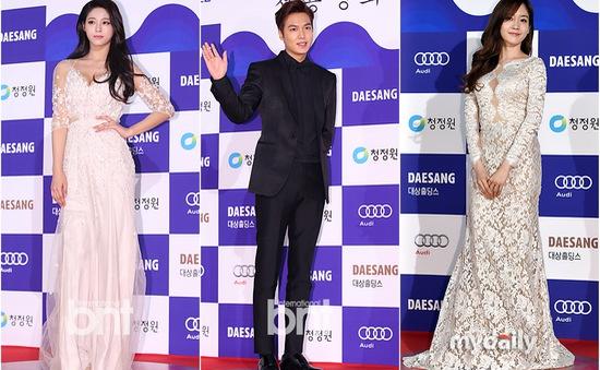 Sao Hàn chưng diện trên thảm đỏ lễ trao giải Rồng Xanh 2015