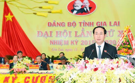 Đồng chí Trần Đại Quang dự Đại hội Đảng bộ tỉnh Gia Lai