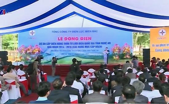 Thêm một xã vùng cao Nghệ An có điện lưới quốc gia